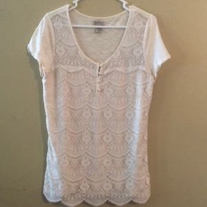 Vintage Lucky Brand lace knit top
